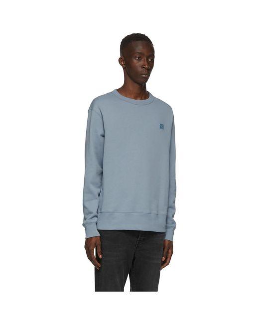 メンズ Acne ブルー Fairview パッチ スウェットシャツ Blue