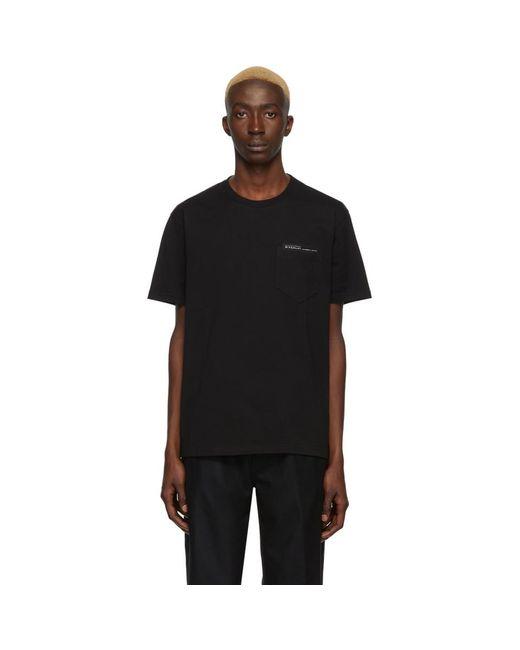 メンズ Givenchy ブラック Fused Tape T シャツ Black