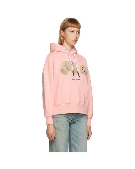 Palm Angels ピンク Bear フーディ Pink