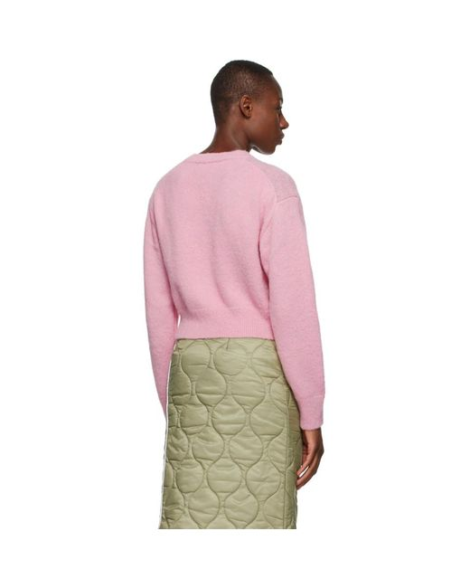 SJYP ピンク ウール アーガイル セーター Pink