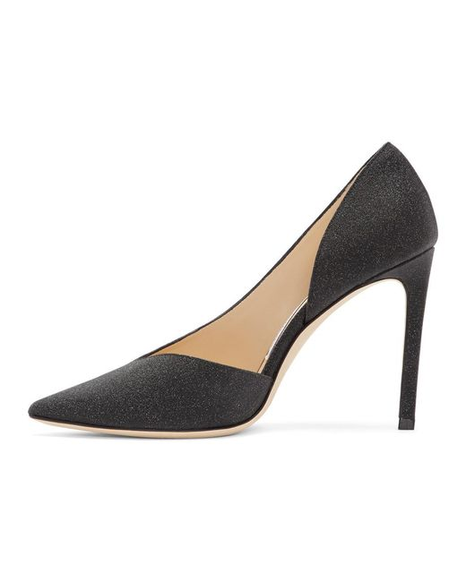 Jimmy Choo Black Glitter Sophia 100 Heels discount enjoy marketable online 0m1EZ