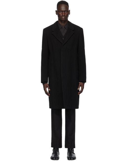 メンズ Maison Margiela ブラック ウール コート Black