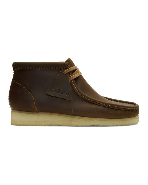 Clarks - Brown Leather Wallabee Boots for Men - Lyst
