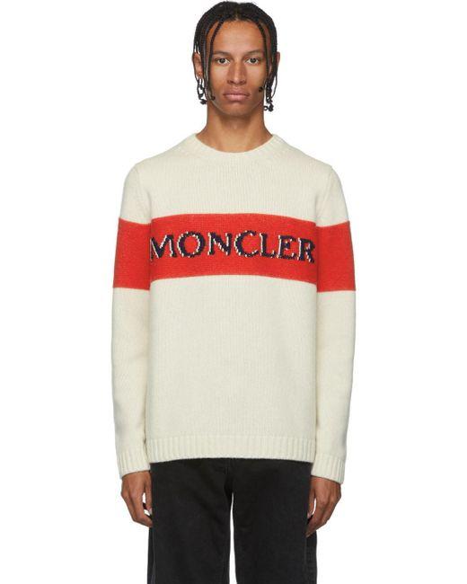メンズ Moncler Genius 2 Moncler 1952 コレクション ベージュ Maglione Tricot セーター Natural