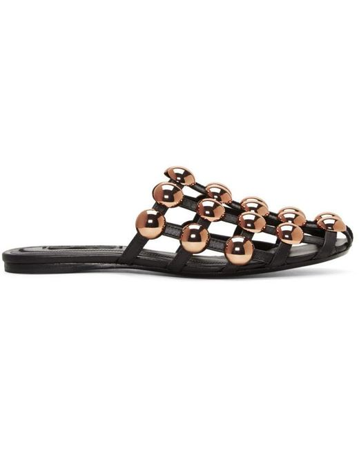 Alexander Wang   Black Amelia Cage Slippers   Lyst