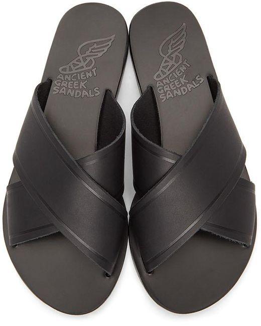 Ancient Greek Sandals ブラック Thais サンダル Black