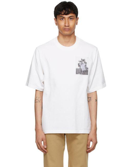 メンズ KENZO High Summer コレクション ホワイト Tropical Graffiti T シャツ White