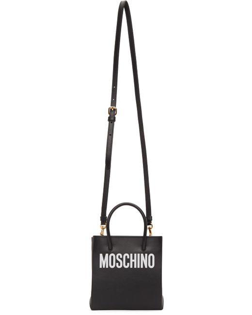 Moschino ブラック ロゴ ショッパー バッグ Black