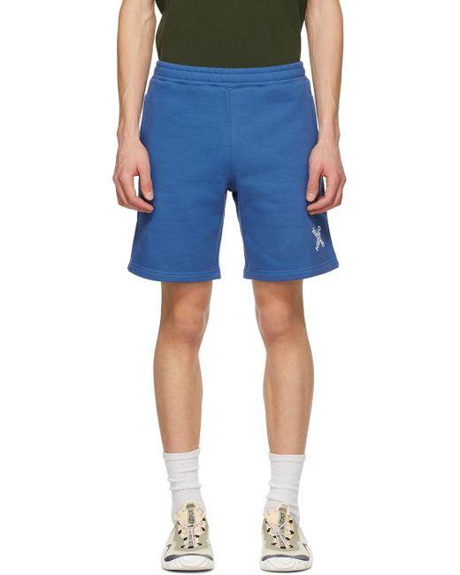 メンズ KENZO ブルー Sport Little X フリース ショーツ Blue