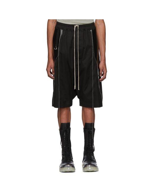 Rick Owens - Black Short a panneaux noir Ricks Pods for Men - Lyst