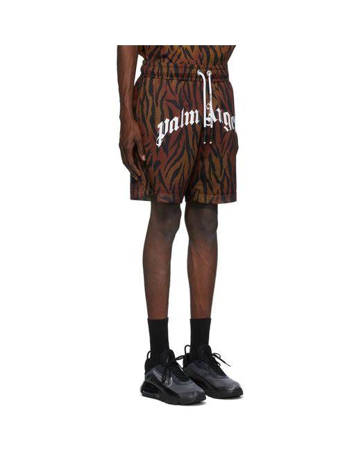 メンズ Palm Angels ブラウン Tiger ショーツ Brown