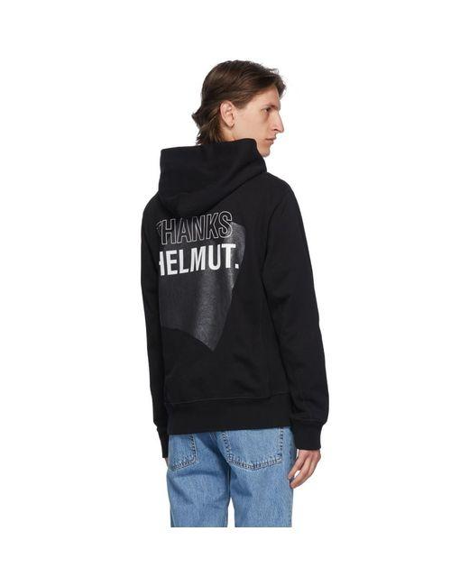 メンズ Helmut Lang ブラック Thanks スタンダード フーディ Black