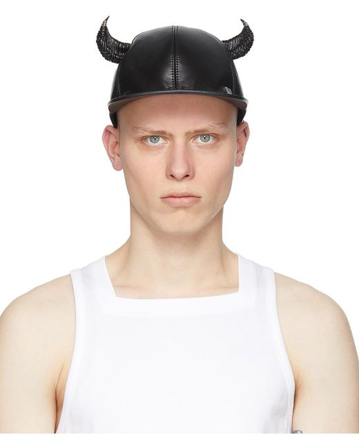 メンズ Givenchy ブラック キャップ Black