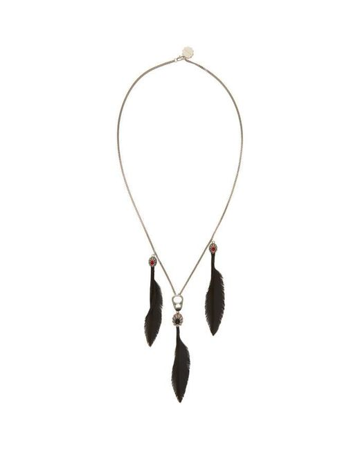 Alexander McQueen | Metallic Silver Can Tab Feather Necklace for Men | Lyst