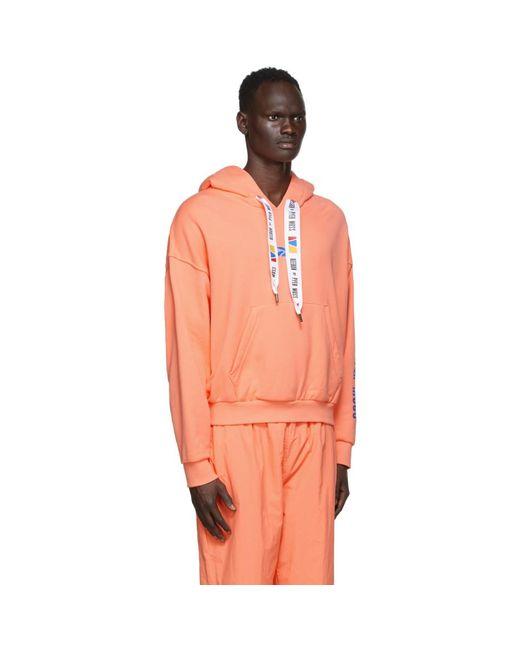 REEBOK X PYER MOSS Multicolor Pink Drawstring Hoodie for men