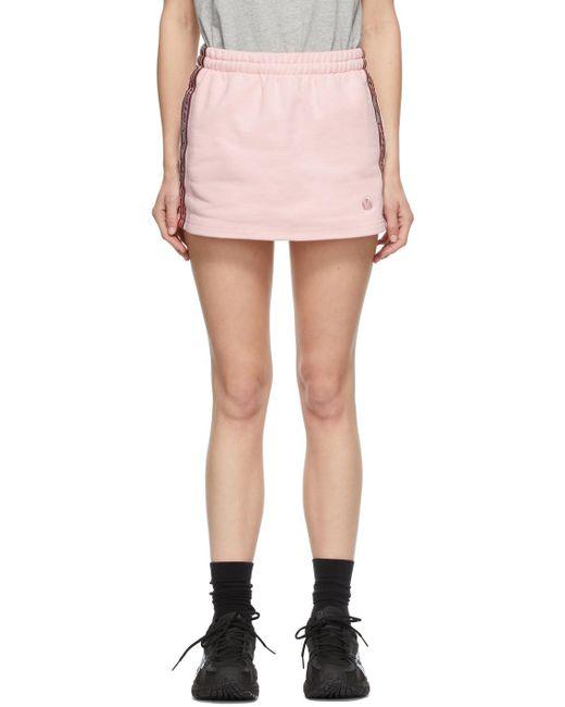 Vetements ピンク Molton ロゴ ミニスカート Pink