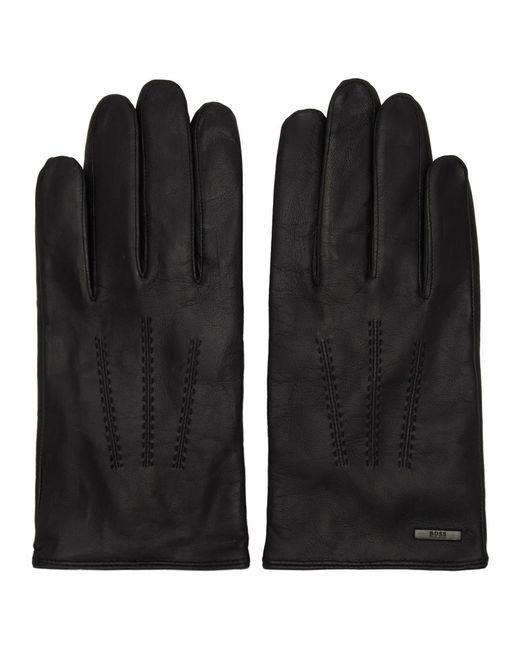 Gants noirs Hinez3 BOSS pour homme en coloris Black