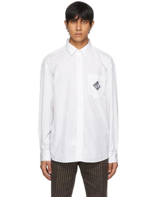 メンズ Ralph Lauren Purple Label ホワイト モノグラム シャツ White