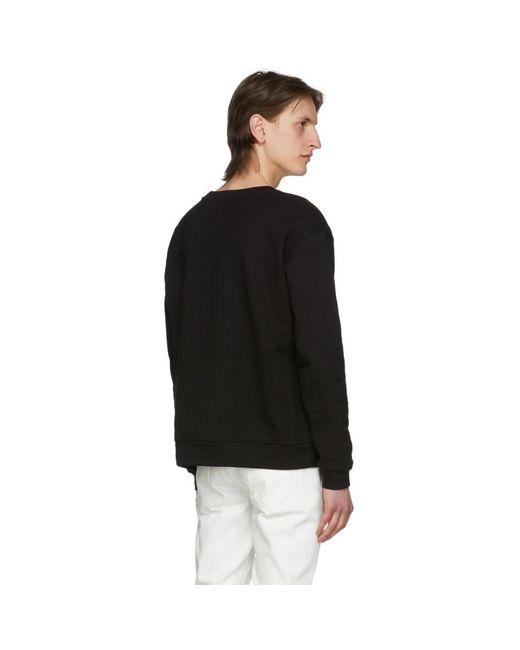 メンズ 424 ブラック ロゴ スウェットシャツ Black