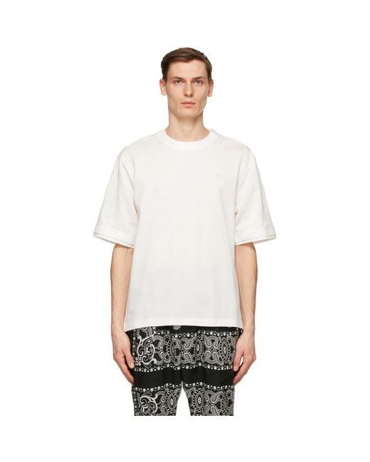 メンズ Sacai ホワイト コットン Pullover T シャツ White