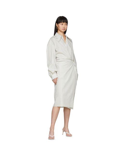Lemaire オフホワイト ニュー ツイスト ドレス White