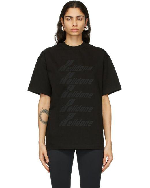 we11done ブラック ロゴ T シャツ Black