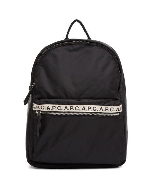 メンズ A.P.C. ブラック Sally バックパック Black