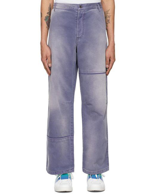 Valentino Purple Denim Shaded Jeans for men