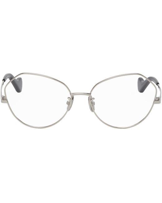 Loewe シルバー キャットアイ メガネ Metallic