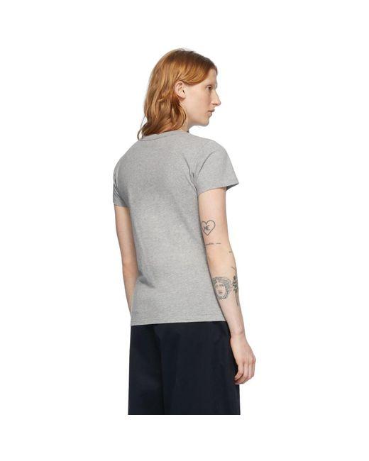 Maison Kitsuné グレー Parisienne T シャツ Gray