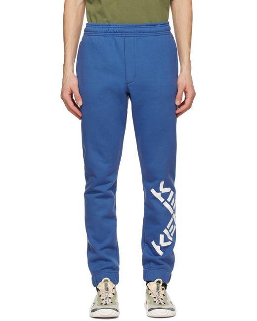 メンズ KENZO ブルー Sport ロゴ ラウンジ パンツ Blue