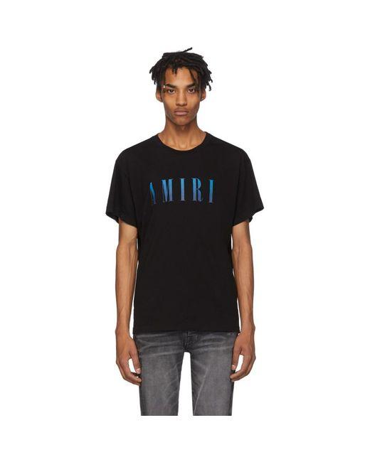 メンズ Amiri ブラック ロゴ コア T シャツ Black