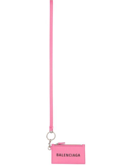Balenciaga ピンク Cash ジップ カード ケース Pink