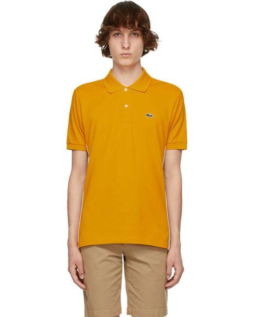 メンズ Lacoste Ricky Regal エディション イエロー L.12.12 ポロシャツ Yellow