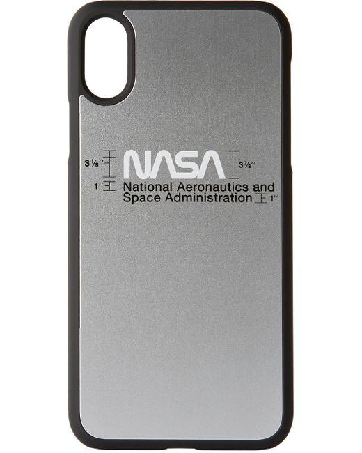 メンズ Heron Preston シルバー ロゴ Iphone Xs ケース Metallic