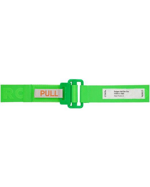 Ceinture en gros-grain verte Tape Heron Preston pour homme en coloris Green