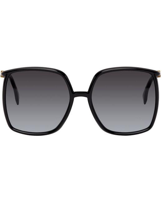 Fendi ブラック Oversized Thin スクエア メガネ Black