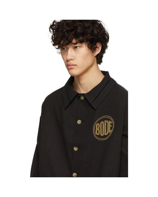 メンズ Bode ブラック ビーズ ワークウェア ジャケット Black