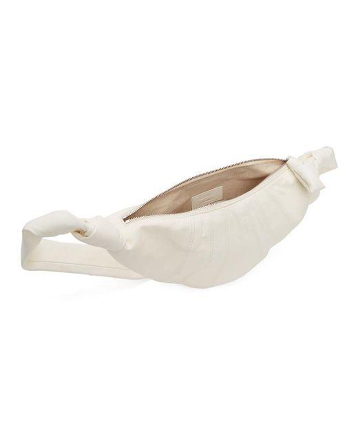 メンズ Lemaire ホワイト スモール ラムスキン クロワッサン バッグ White