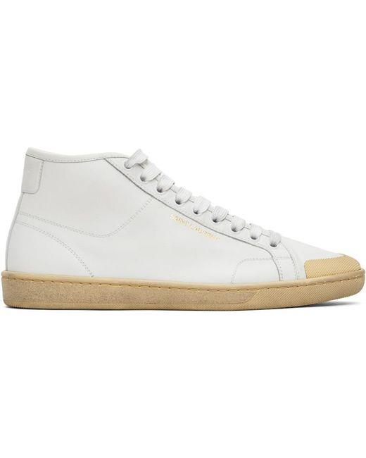 Saint Laurent ホワイト Court Classic Sl/39 ミッド スニーカー White