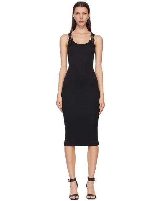 Versace Jeans ブラック ロング ドレス Black