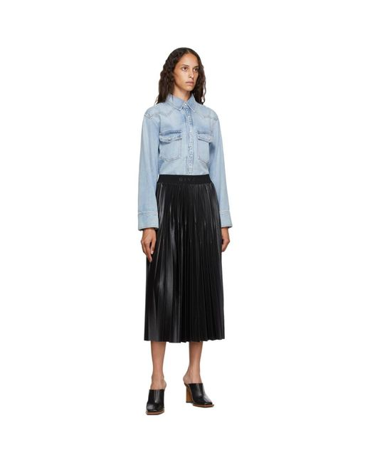 Givenchy ブルー デニム ウエスタン シャツ Blue
