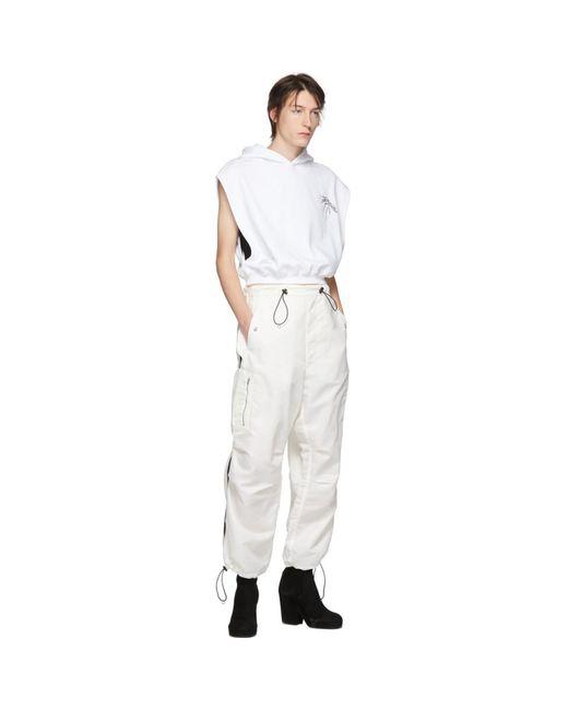 メンズ Random Identities ホワイト Berlin Baggies カーゴ パンツ White