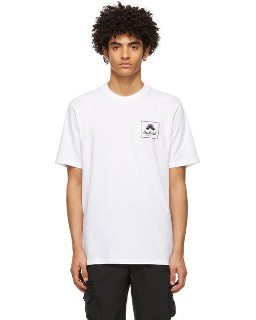 メンズ Carhartt WIP ホワイト Peace State T シャツ White