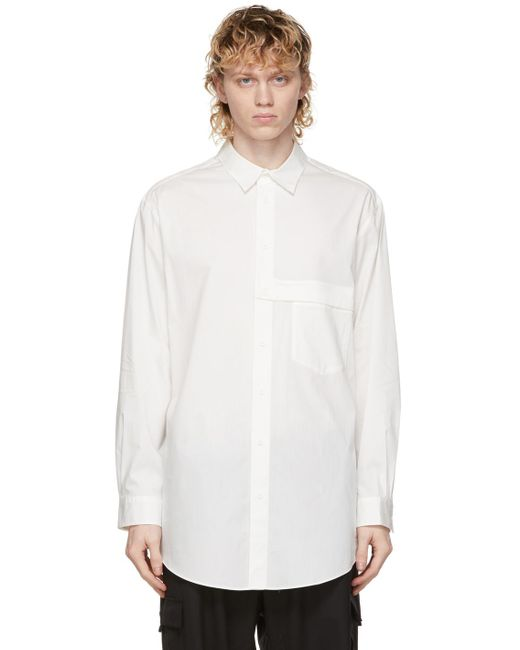Y-3 White Classic Shirt for men
