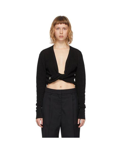 Jacquemus ブラック Le Gilet Noue セーター Black