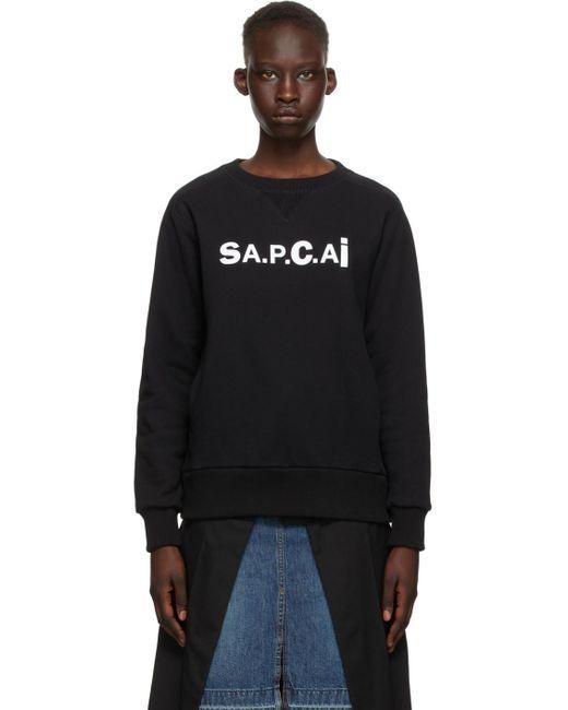 A.P.C. Sacai エディション ブラック Tani スウェットシャツ Black