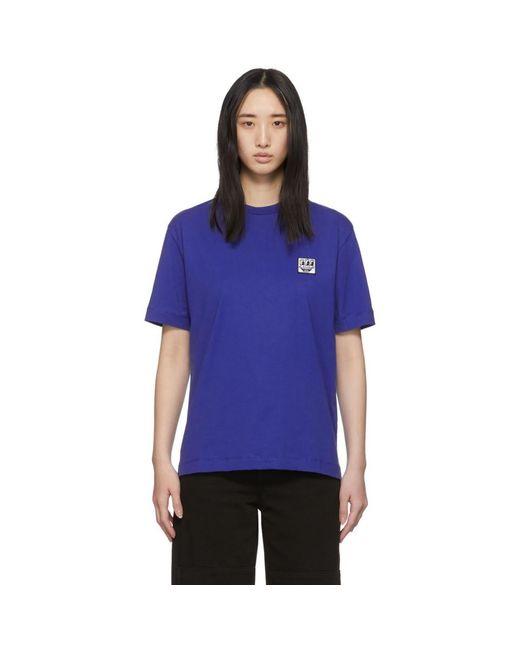 Etudes Studio Keith Haring Edition ブルー Wonder パッチ T シャツ Blue