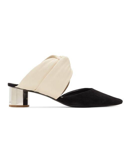 Proenza Schouler Off-white And Black Crisscross Heels