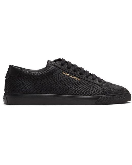 Saint Laurent Black Python Andy Sneakers for men